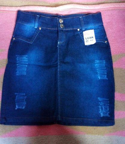 Saia jeans secretaria moda evangélica  - Foto 3