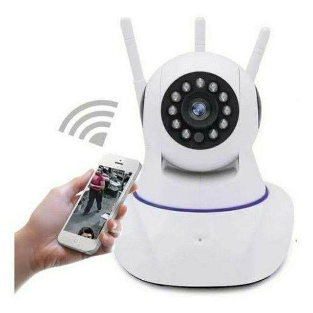 Câmera Robô 3 Antenas Ip Wifi com rotação 360º 720p Pronta entrega - Foto 2