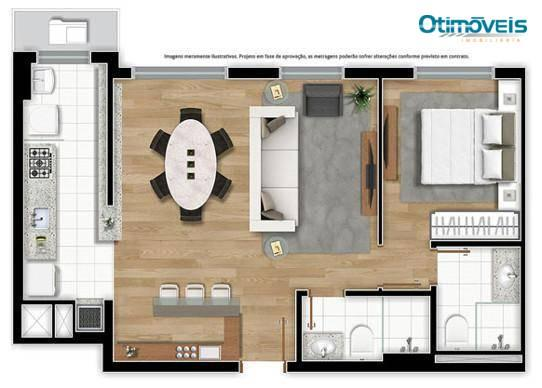 Apartamento com 2 dormitórios à venda, 56 m² por r$ 345.900,00 - santo inácio - curitiba/p - Foto 18