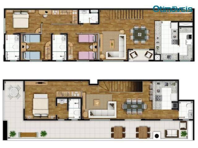Cobertura à venda, 168 m² por R$ 926.000,00 - Cabral - Curitiba/PR - Foto 2