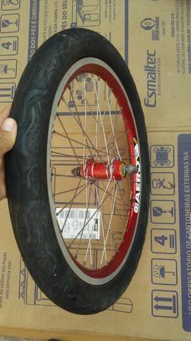 Par de calhas aro 20 aero cm pneus bike