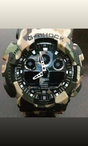 f477ad9c957 Relógio GA100 camuflado marrom - Bijouterias