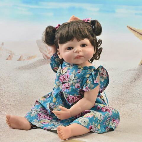 b2df48cd6830 Boneca bebê Reborn silicone pode dar banho receba hoje entrega gratuita  da8whs - Foto 3
