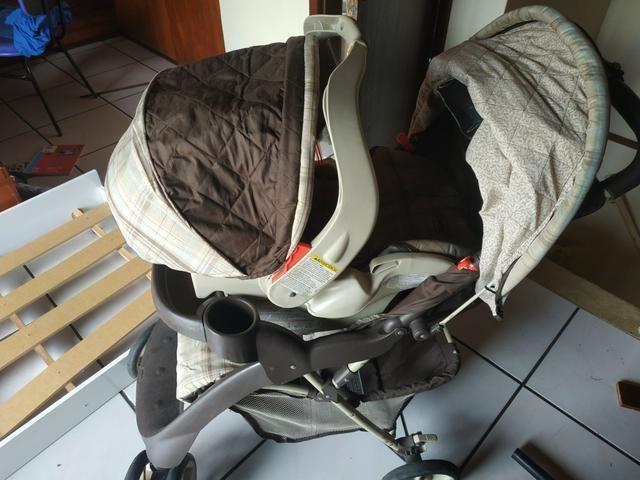 Vendo ou Troco Carrinho Graco + Bebê Conforto + Base do carro