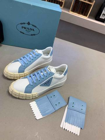 Tênis Prada White Blue - Foto 3