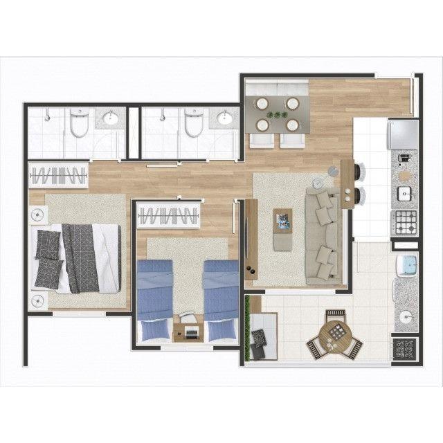 Osasco Bela Vista 56 metros 2 Dormitórios Suíte Varanda Gourmet 1 vaga Pronto para Morar - Foto 15