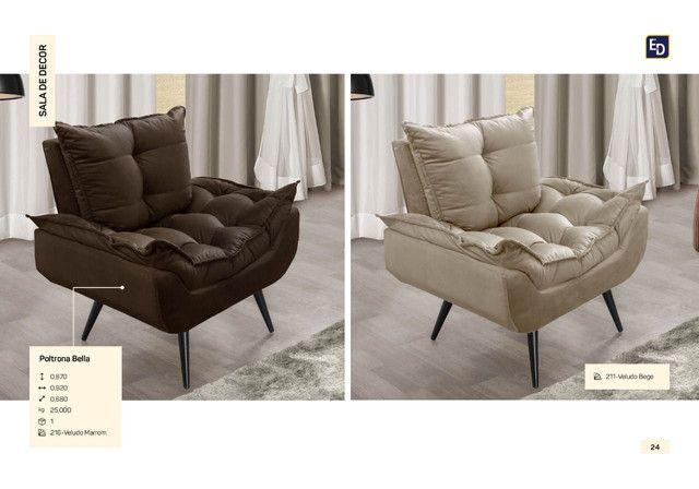 Poltrona Bella estilo retrô super comfort
