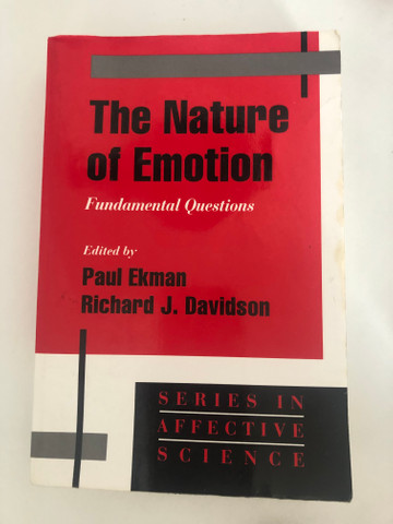 Livro: the nature of emotion (Paul Ekman)