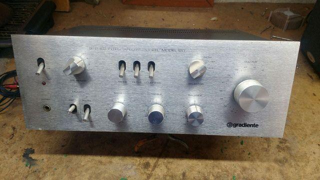 Amplificador gradiente mod 120 / ilha solteira sp