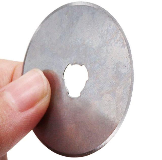 Lâminas circulares p/estilete rotativo 45 mm ultra afiadas venda de 1 ou 5 unidades - Foto 2