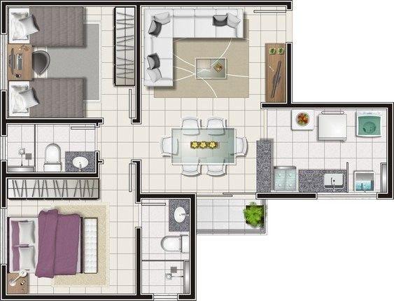 Apartamento para venda com 61 metros quadrados com 2 quartos em Estrela Sul - Juiz de Fora - Foto 16