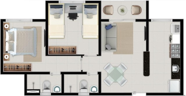 Apartamentos no Eusébio - A partir R$172.235,00 - Foto 11