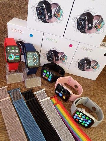 Smartwatch IWO 13 Lite HW12 40mm, Foto e Senha na Tela, Troca Pulseira, Faz ligações - Foto 2