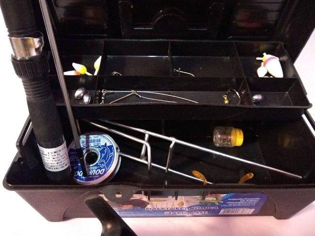 Kit pesca , vara molinete , caixa de pesca - Foto 4
