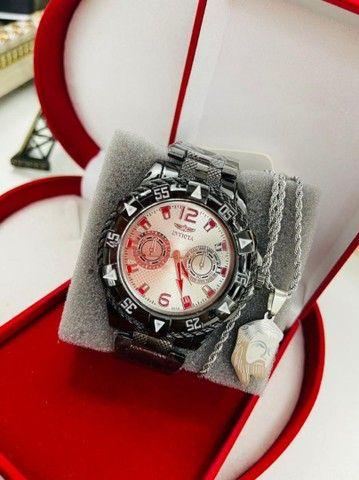 Relógio masculino com acessórios - Foto 3