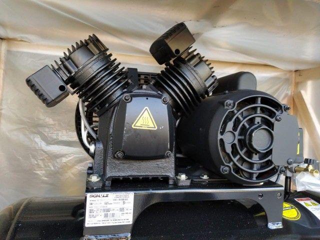 Compressor de Ar 10 Pés 100L 2HP 140PSI Monofásico - Schulz Pro CSV10/100 - Foto 3