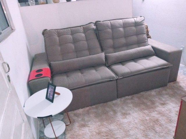 Troco .... Sofa nova ... Lan shopping .. So troco por retratil e reclianvel tbm