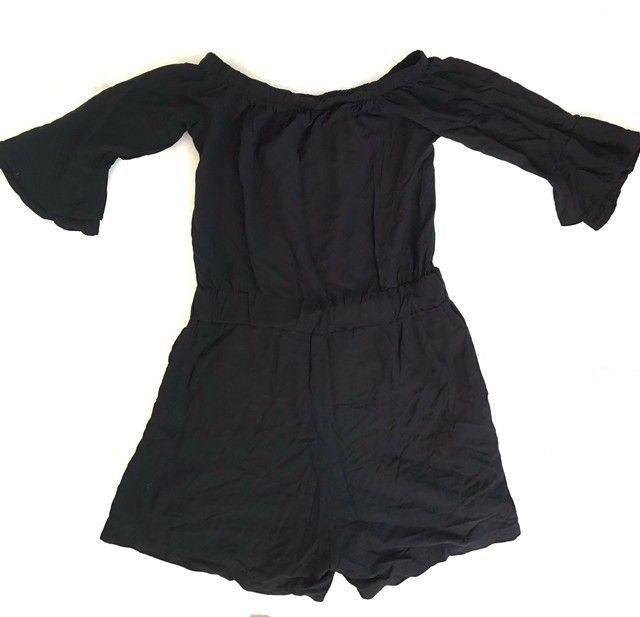 macacão feminino curto preto