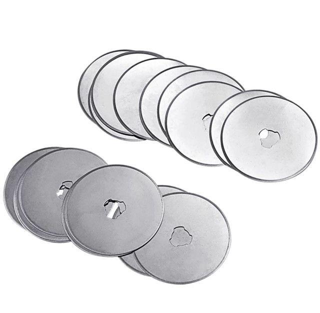 Lâminas circulares p/estilete rotativo 45 mm ultra afiadas venda de 1 ou 5 unidades - Foto 4
