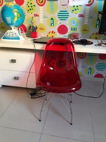 Cadeira infantil escritório acrílico  - Foto 3