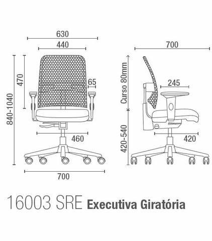 Cadeira Cavaletti Executiva Giratória 16003 Base Preta