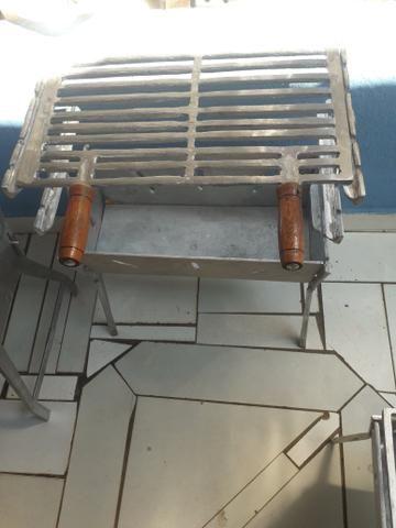 CHURRASQUEIRA MÉDIA alumínio batido