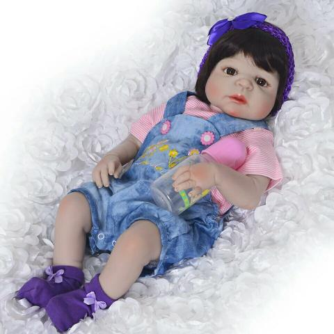 83bec847ad05 Boneca bebê Reborn silicone pode dar banho receba hoje entrega gratuita  da8whs - Foto 2
