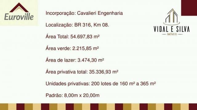 Condomínio euroville, terrenos, lotes residenciais, 160m² à 365m² - centro - ananindeua/pa - Foto 14