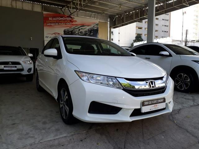 Honda 2015 City 1.5 lx cvt Automatico completo branco confira
