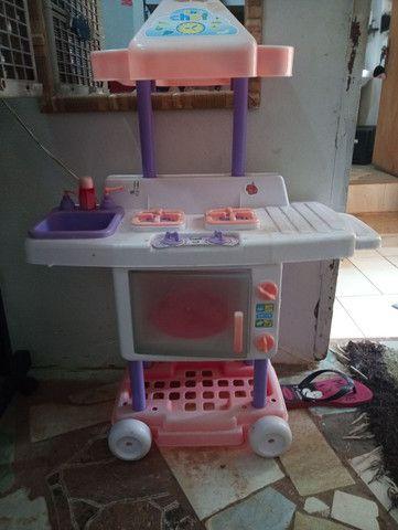 Cozinha infantil rosa