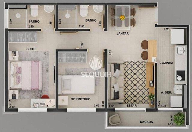 Oportunidade! Apartamento Nova Aliança (Próximo a Unip) 57m² suíte/varanda/porcelanato - Foto 2