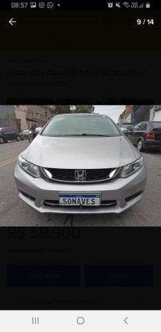 VENDO HONDA CIVIC/PARCELADO  - Foto 8