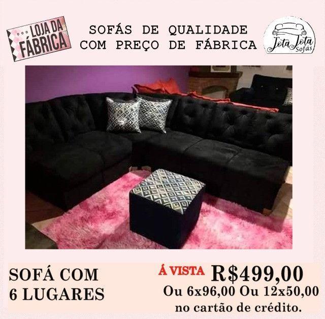 Conforto e Qualidade você encontra So aqui Lindos Sofás a Partir de R$349,00!!! - Foto 3