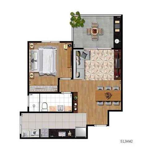 Easy Home 1 dorm varanda Gourmet -J.d Aquarius - Localização Privilegiada - Foto 13