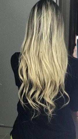 Mega Hair Cabelo Humano Loiro Claro - Foto 2