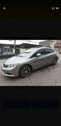 VENDO HONDA CIVIC/PARCELADO  - Foto 13