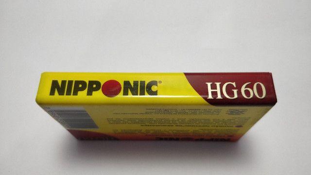 Fita Cassete Virgem Nipponic Lacrado HG 60 Magnético Preço de unidade - Foto 5