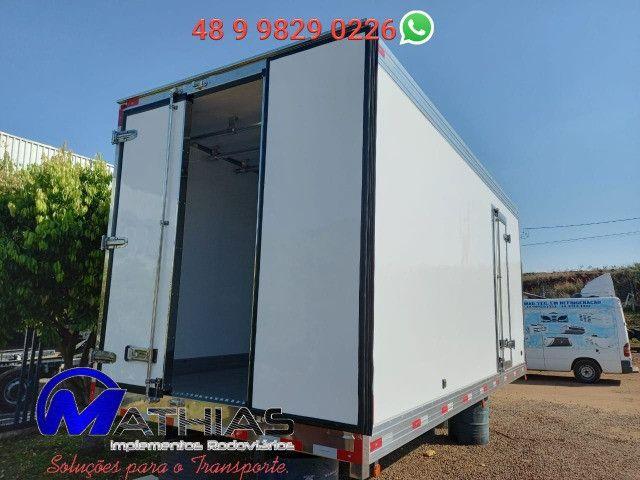 Ref 0981 Baú frigorífico 3/4 gancheira novo a pronta entrega - Foto 8