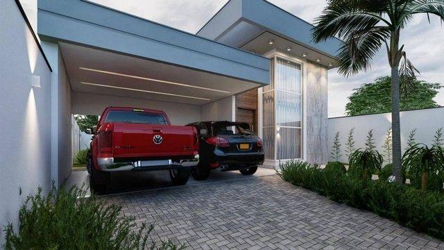 Excelente casa nova alto padrão com 3 suítes, sendo 1 com closet na 505 sul - Foto 3