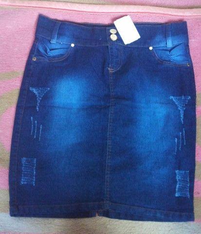 Saia jeans secretaria moda evangélica  - Foto 6