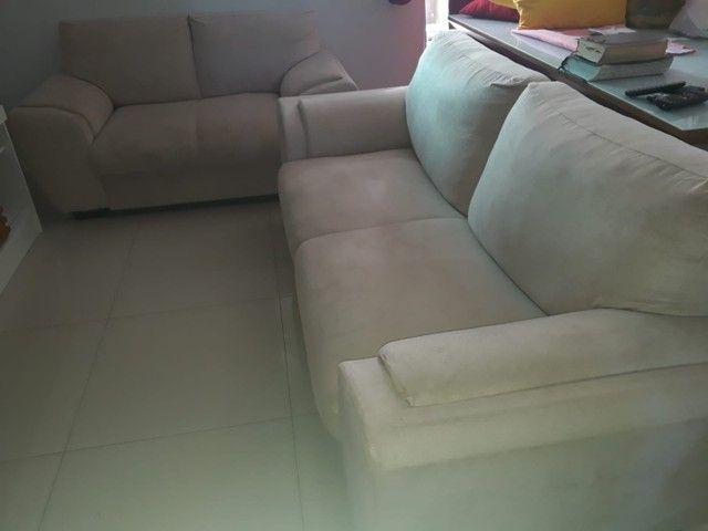 Jogo de sofá suede 2 e 3 lugares