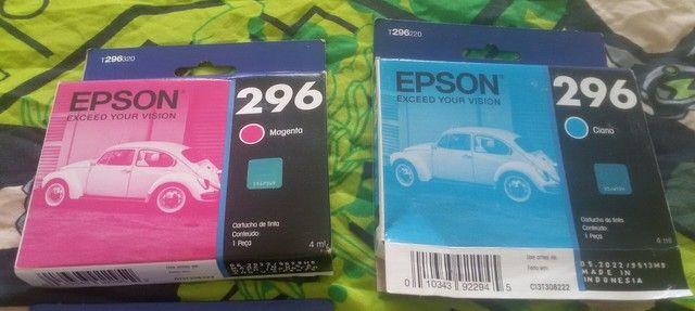 Cartucho Original Epson XP 241 Azul e Magenta