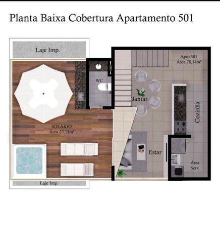 Apartamento de três quartos com cobertura privativa completa - Foto 7