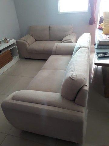 Jogo de sofá suede 2 e 3 lugares - Foto 3