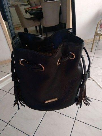 2 bolsas=Bolsa saco+Mochila bolsa WJ original, preto fosco com detalhes em dourado.   - Foto 4