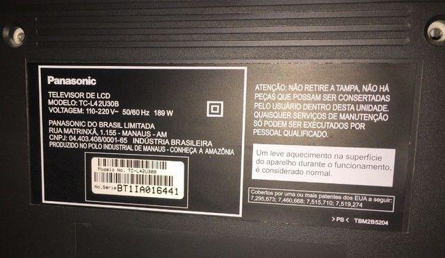 Tv Panasonic 42 Polegadas Tc-l42u30b com Defeito - Foto 3