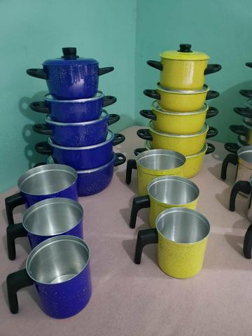 Jogo de panelas e leiteira - Foto 2