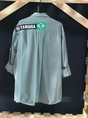 Camisa Manga Longa Cinza clara Old Navy - Tamanho - G - Foto 2