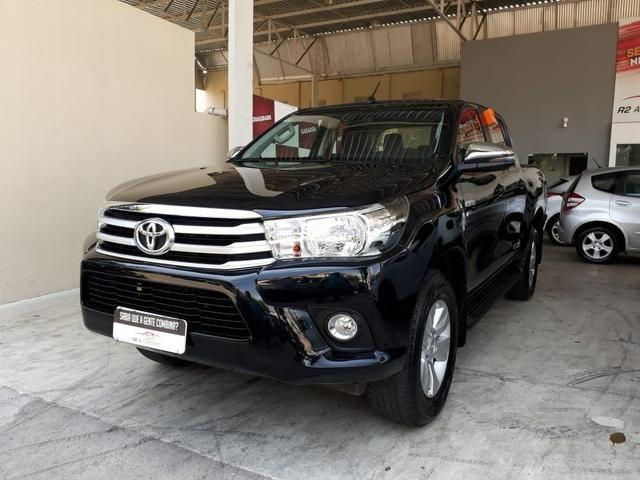 Toyota 2018 Hilux srv 4x4 2.7 Flex Automatico top de linha impecável confira