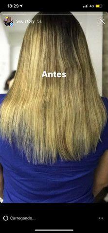 Vendo Mega Hair de Fita Adesiva Loiro - Foto 2